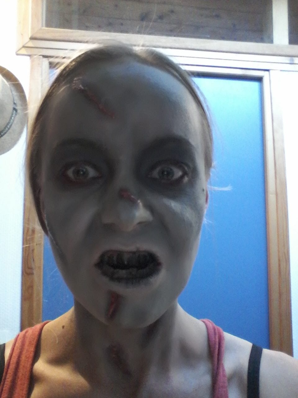 Maquillage halloween - l'exorciste - effrayant