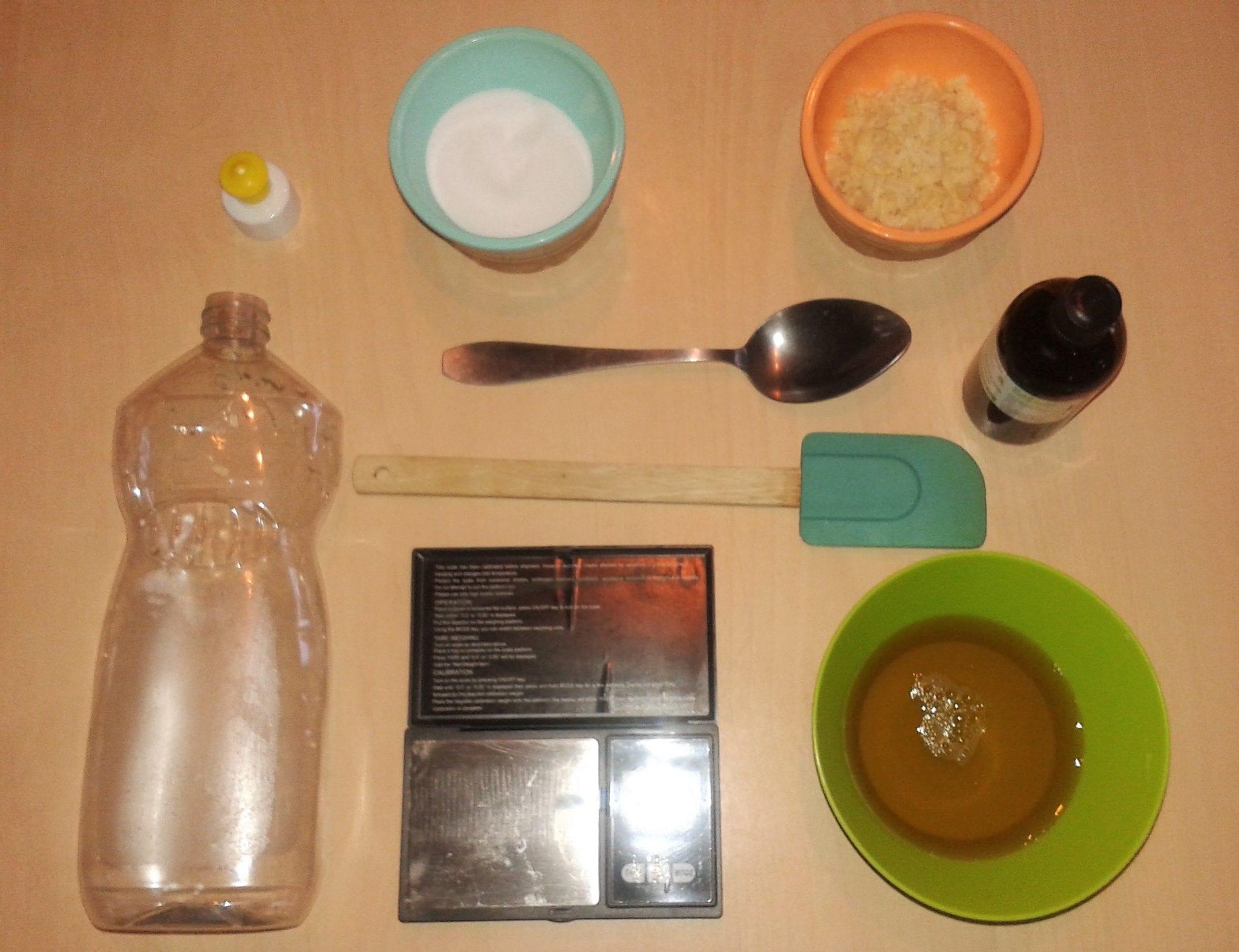 atelier diy lille liquide vaisselle ingrédients