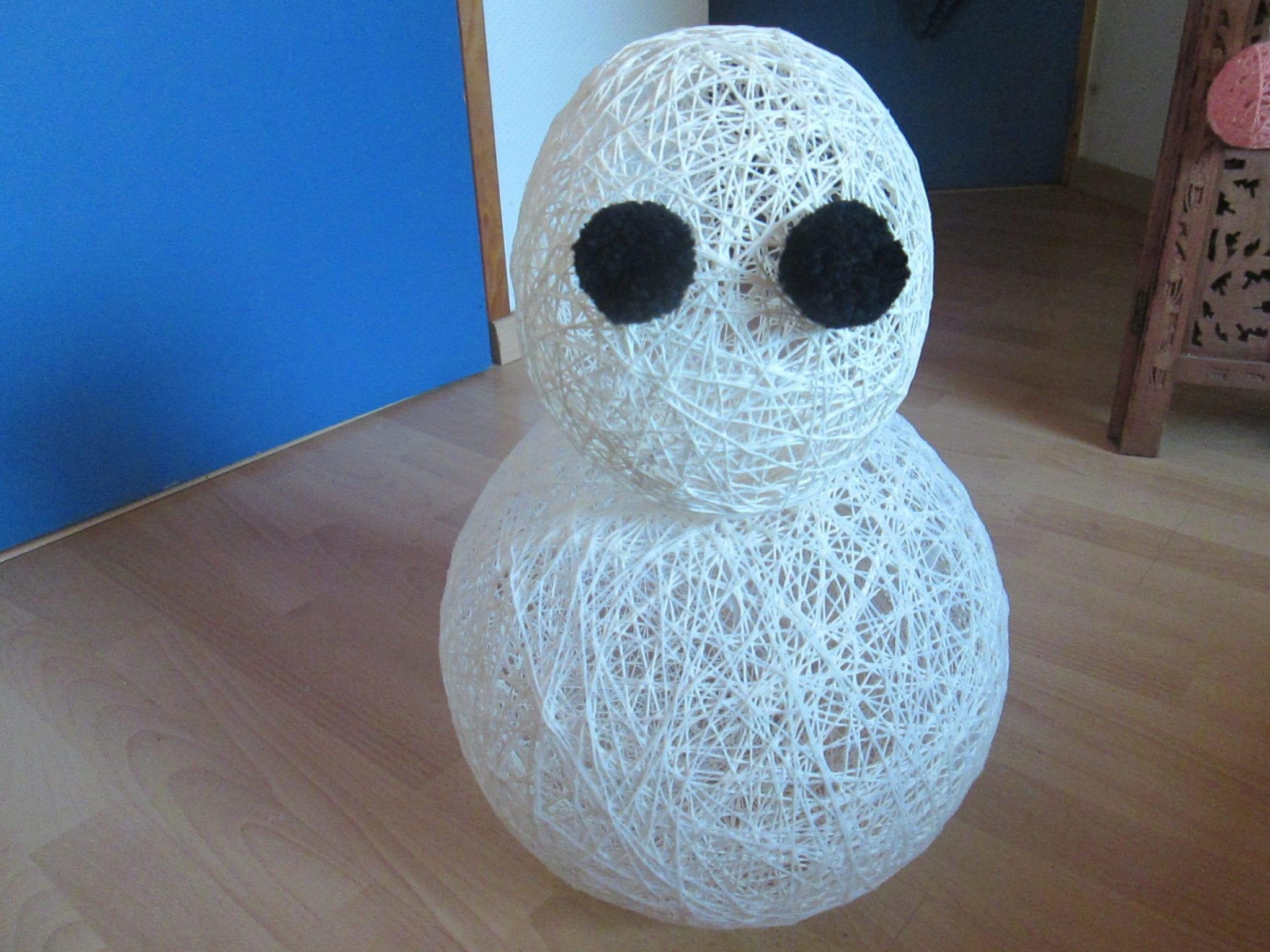 Bonhomme de neige - assemblage