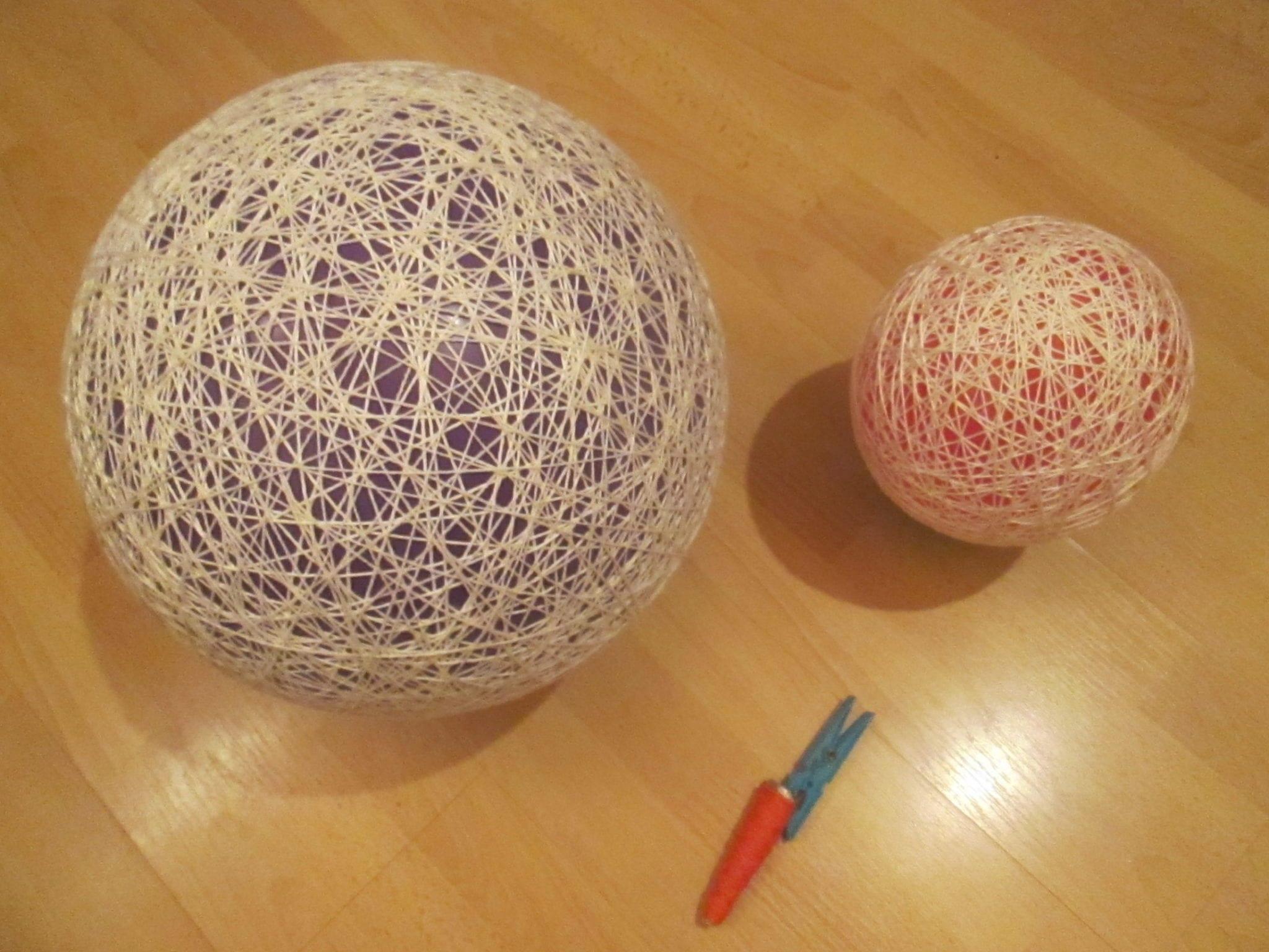 Bonhomme de neige - ballon et laine