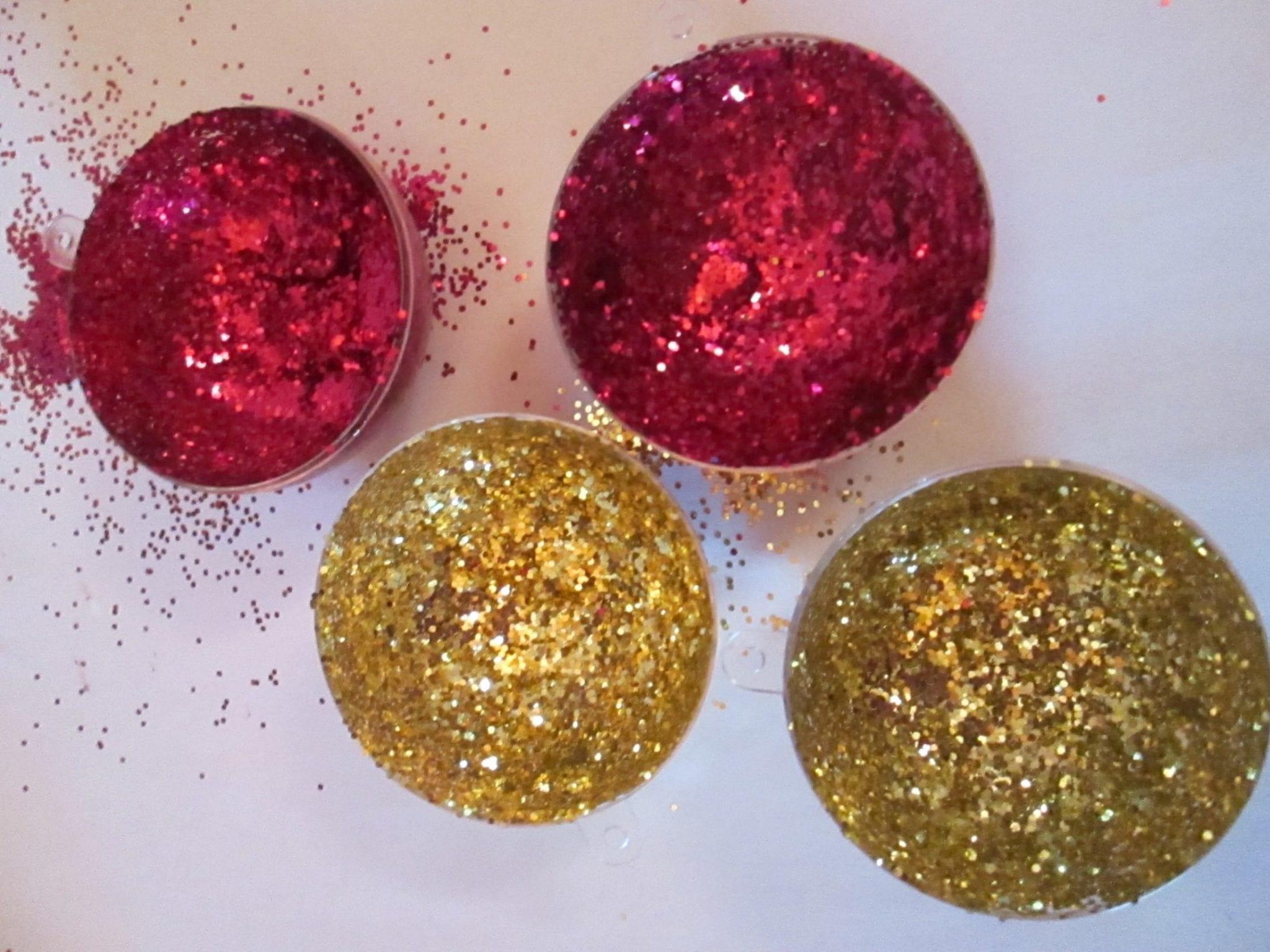 Boule de Noël Licorne - boules et paillettes