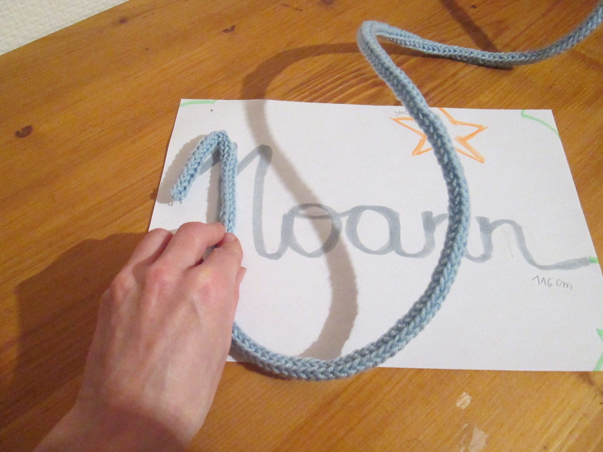 Tricotin 4 picots - mise en forme 1