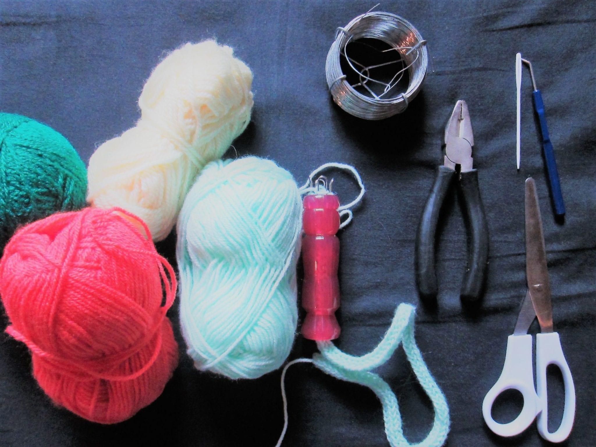 Ampoule tricotin - matériel