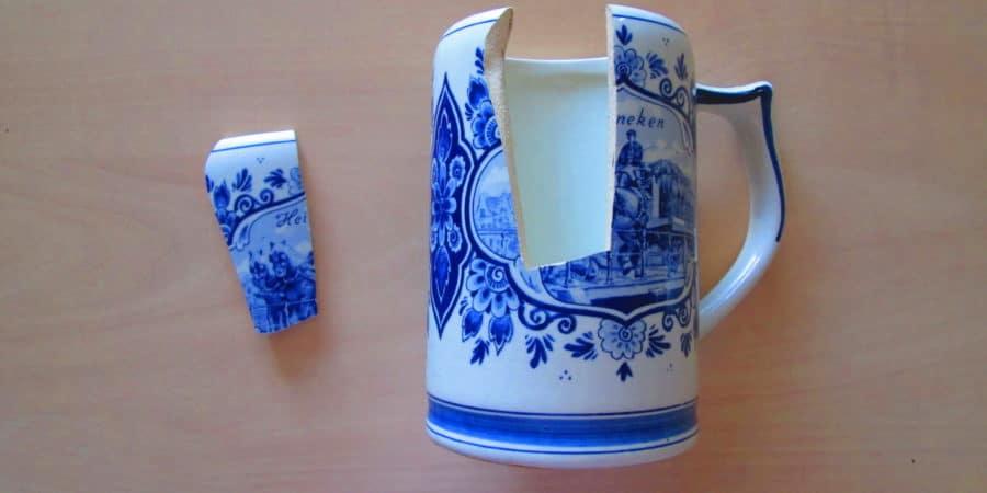réparer de la porcelaine avec lait - porcelaine cassée