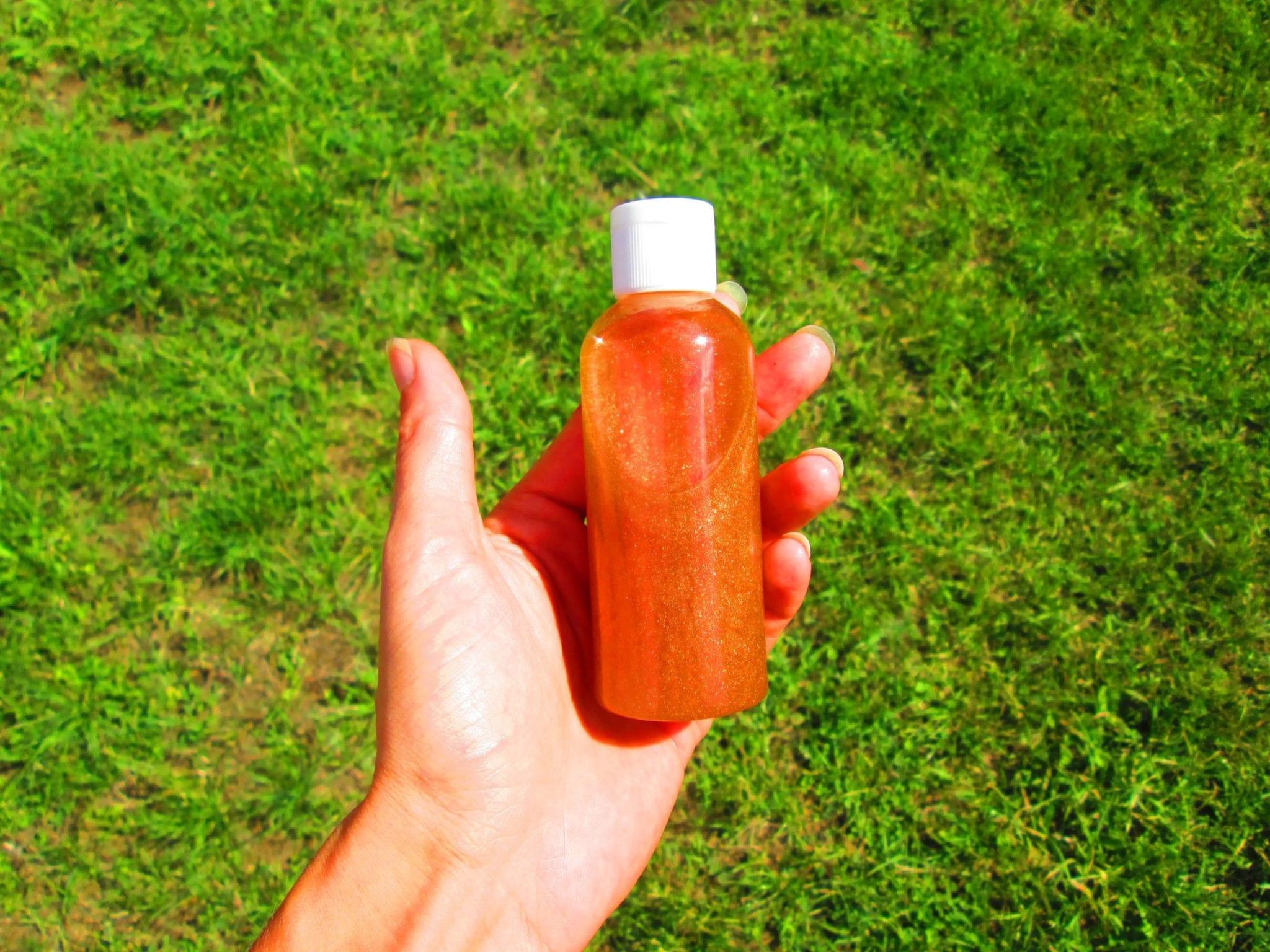 Ateliersdiy.fr - huile pailletée pour le corps - ambiance