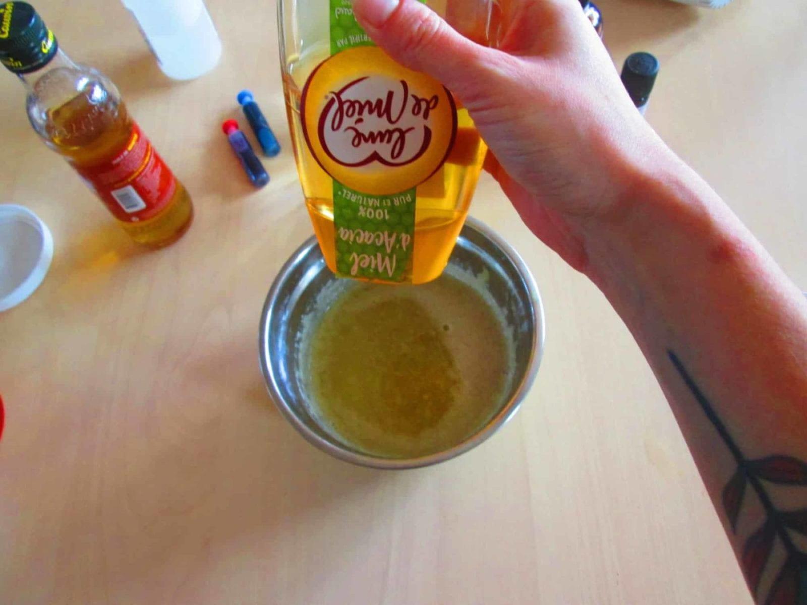 Mousse de douche craquante - miel