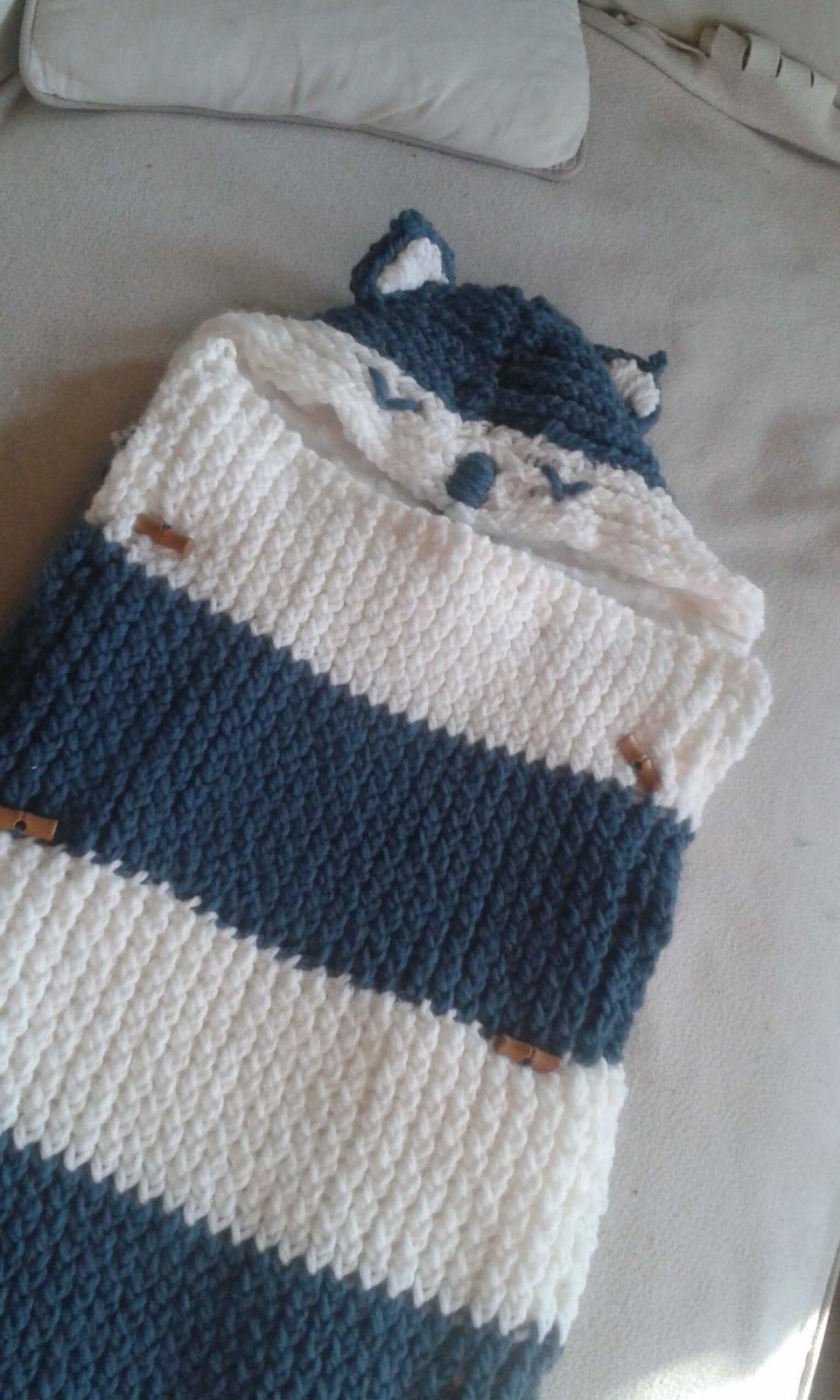 Nid d'ange tricotin oblique fermé ateliers diy lille