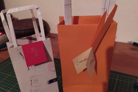 comment fabriquer un sac cadeau en papier
