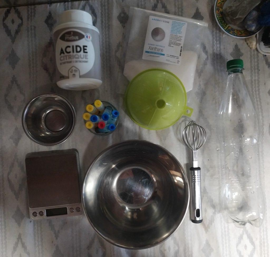 Canard WC maison - ingredients